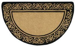 Half Round Bella Border Natural Plain Coir Doormat