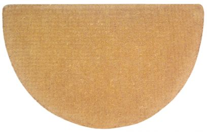 Half Round Natural No Border Plain Coir Doormat