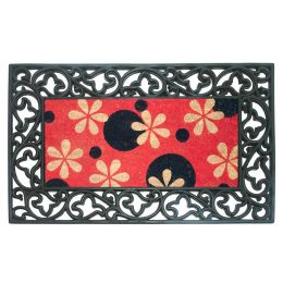 Phlox Dots Dirtbuster Natural Coco Coir Doormat