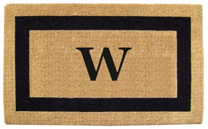 Monogrammed Black Picture Frame Coco Coir Doormat