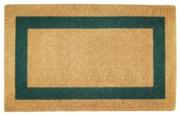 Green Picture Frame Coco Coir Doormat - Welcome Mat