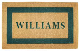 Personalized Green Picture Frame Coco Coir Doormat