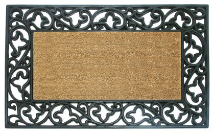 Acanthus Rubber Natural Coco Coir Doormat - Welcome Mat