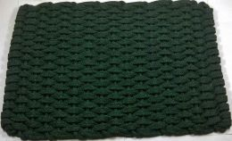 Forest Green Hand Woven Flat Rope Doormat