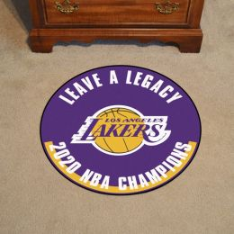 LA Lakers 2020 NBA Champions Basketball Mat