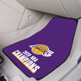 LA Lakers NBA 2020 Champs 2pc Carpet Car Mat Set