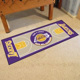 LA Lakers 2020 Champs Court Runner Mat - Nylon 30 x 72