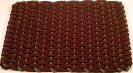 Wine Colored Rockport Rope Hand Made Rope Floor Mat - Doormat