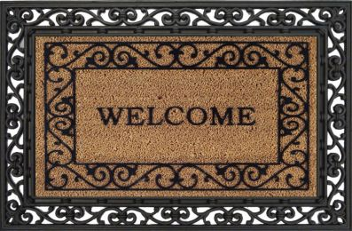 "Coco Coir Traditional ""Welcome"" Mat - Coir Entrance Doormat"