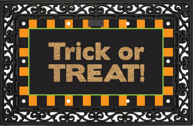Happy Halloween Fiber Optic Light Up Coir Doormat Floor Mat