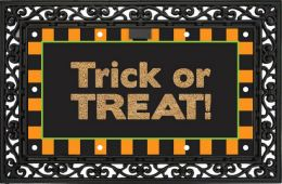 Happy Halloween Fiber Optic Light Up Coir Doormat - Floor Mat