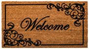 Coco Coir Elegant Welcome Flocked Doormat - 16 x 28