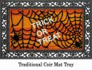 Coco Coir Trick or Treat Flocked Doormat - 16 x 28