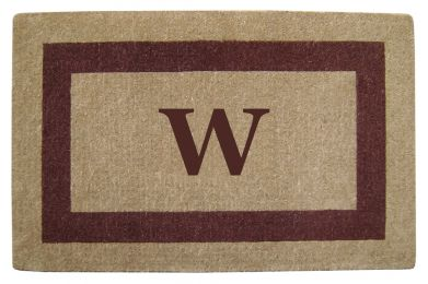 Monogrammed Brown Picture Frame Coco Coir Doormat