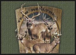 Realtree Deer Scenic Camouflage Nylon Area Rug