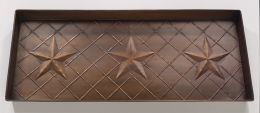 Embossed 3 Star Antique Copper Shoe, Boot & Plant Tray