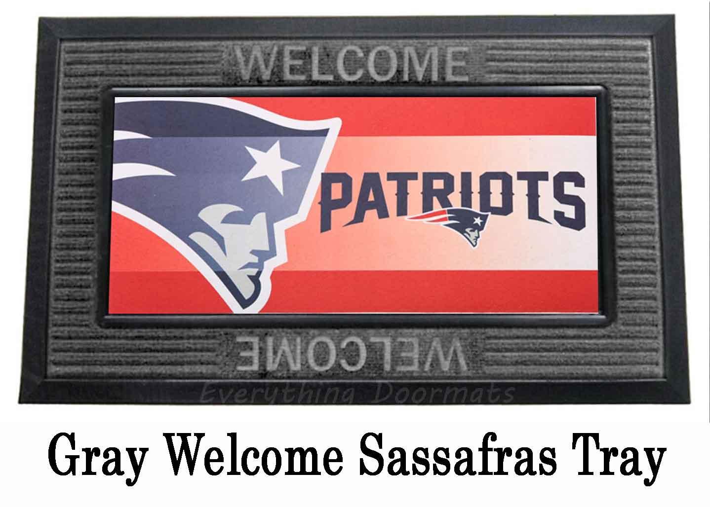New England Patriots Sassafras Mat 10 X 22 Insert Doormat