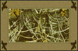 Max 4 Realtree Bordered Leaves & Branches Camouflage Area Rug