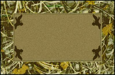 Max 4 Realtree Leaves Branches Bordered Camouflage Nylon Area Rug