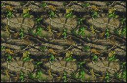 Hardwoods Green Realtree Leaves & Branches Camouflage Area Rug