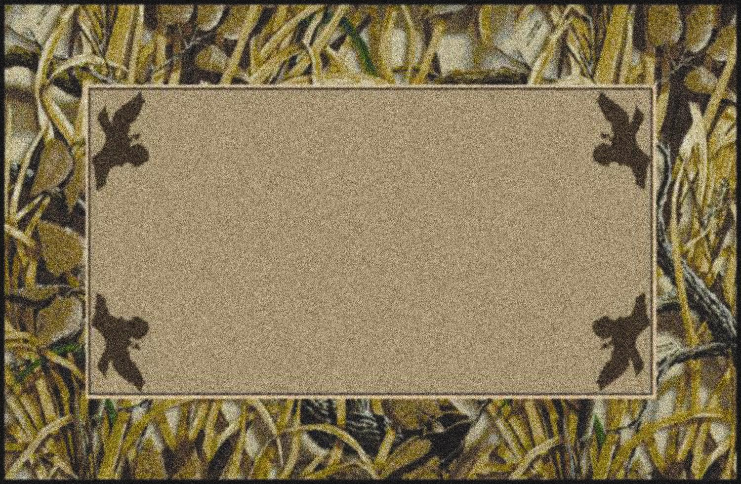 Wetlands Realtree Bordered Tree Amp Leaves Camouflage Area Rug