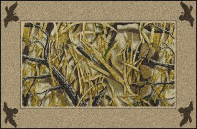 Wetlands Realtree Bordered Leaves & Branches Camouflage Area Rug