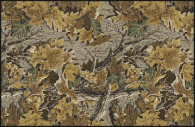 Advantage Realtree Leaves & Branches Camouflage Nylon Area Rug