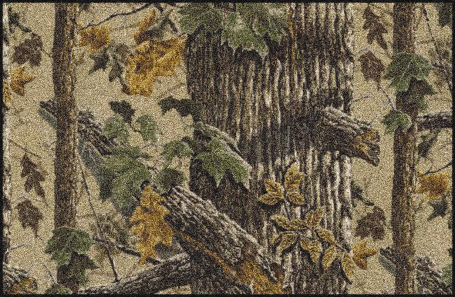 X Tra Brown Realtree Tree Amp Leaves Camouflage Nylon Area Rug