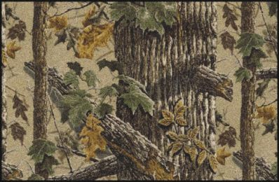 X-Tra Brown Realtree Tree & Leaves Camouflage Nylon Area Rug