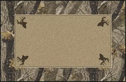 Hardwoods Realtree Bordered Trees Camouflage Nylon Area Rug