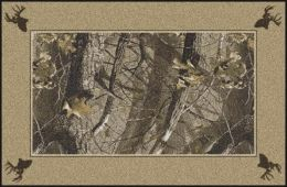Hardwoods Realtree Bordered Tree Leaves Camouflage Area Rug