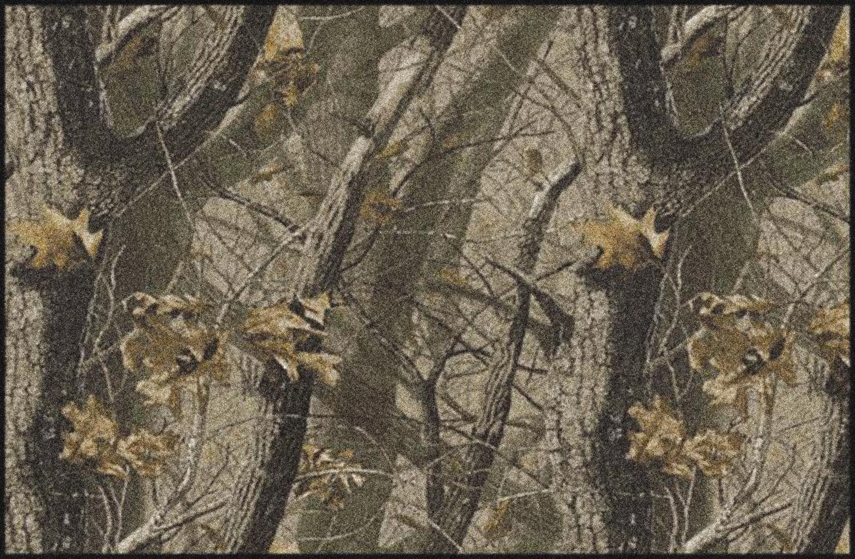 Hardwoods Realtree Trees Leaves Camouflage Nylon Area Rug