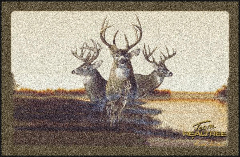 Realtree Deer Fall Scenic Camouflage Nylon Area Rug