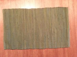 Basic Woven Rag Rug-Dark Green