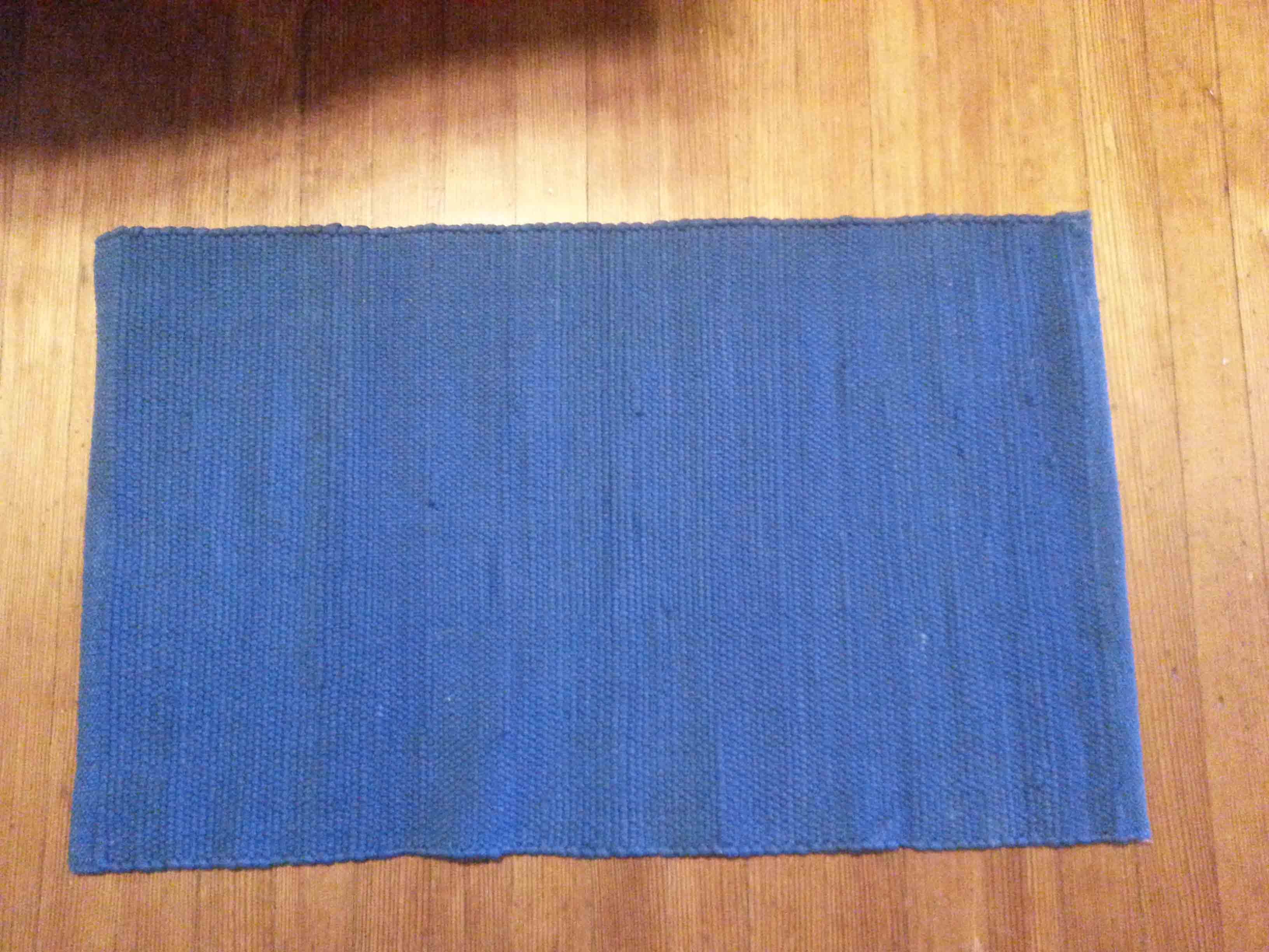 Basic Woven Rag Rug Royal Blue