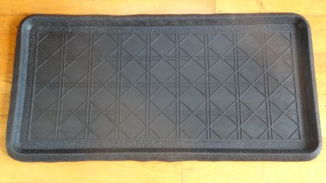 Canning Embossed Natural Rubber Boot Tray - 32 x 16 x 1