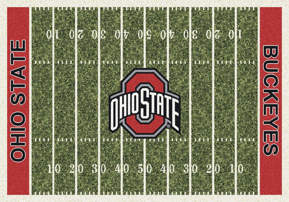 Ohio State Buckeyes Home Field Area Rug Football Logo