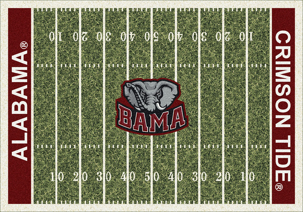 Alabama Crimson Tide Home Field Area Rug Football Logo