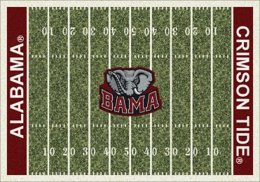 Alabama Crimson Tide Home Field Area Rug - Football Logo