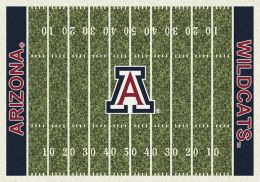 Arizona Wildcats Home Field Area Rug - Football Logo