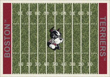Boston Terriers Home Field Area Rug - Football Logo