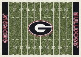 Georgia Bulldogs Home Field Area Rug - Football Logo