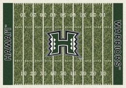Hawaii Warriors Home Field Area Rug - Football Logo