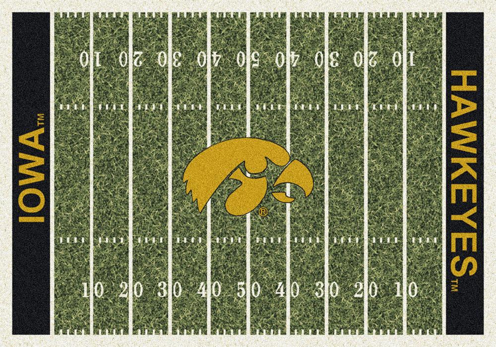 Iowa Hawkeyes Home Field Area Rug Football Logo