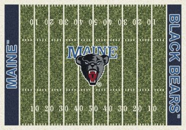 Maine Black Bears Home Field Area Rug - Football Logo