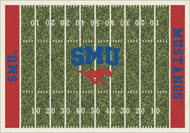 Southern Methodist Mustangs Home Field Area Rug - Football Logo