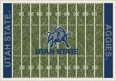 Utah State Aggies Home Field Area Rug - Football Logo