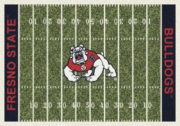 Fresno State Bulldogs Home Field Area Rug - Football Logo