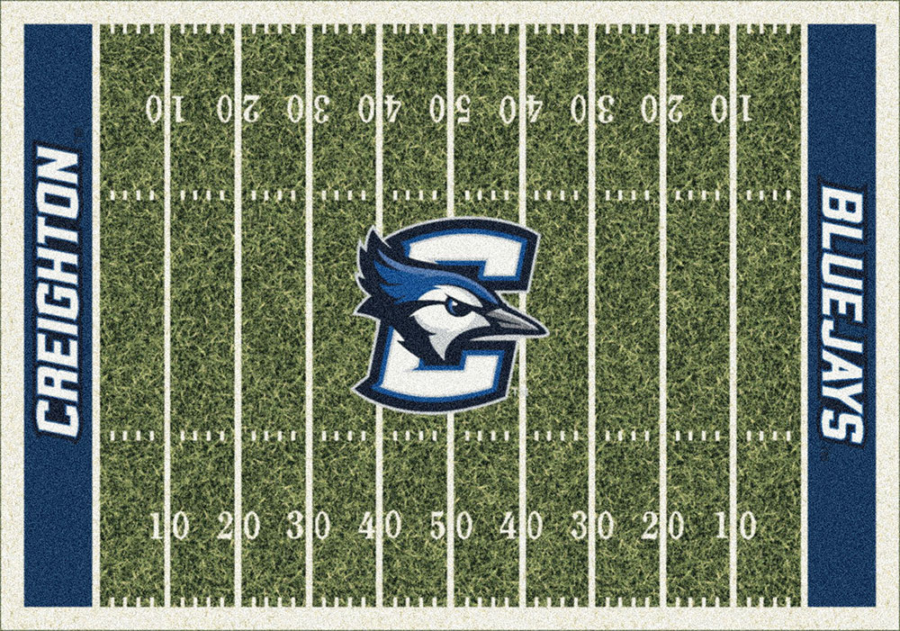 Creighton Blue Jays Home Field Area Rug - Football Logo