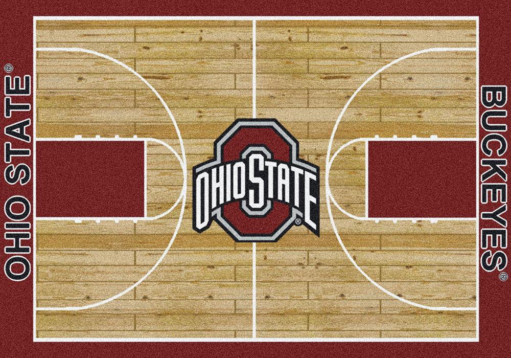 Ohio State Buckeyes Basketball Home Court Nylon Area Rug